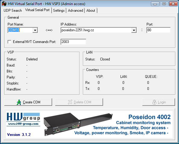 HW Virtual Serial Driver software