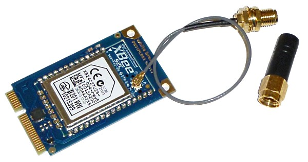 Xbee mini PCI express module (prototype without the U.FL connector)