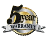 Five years warranty on labour